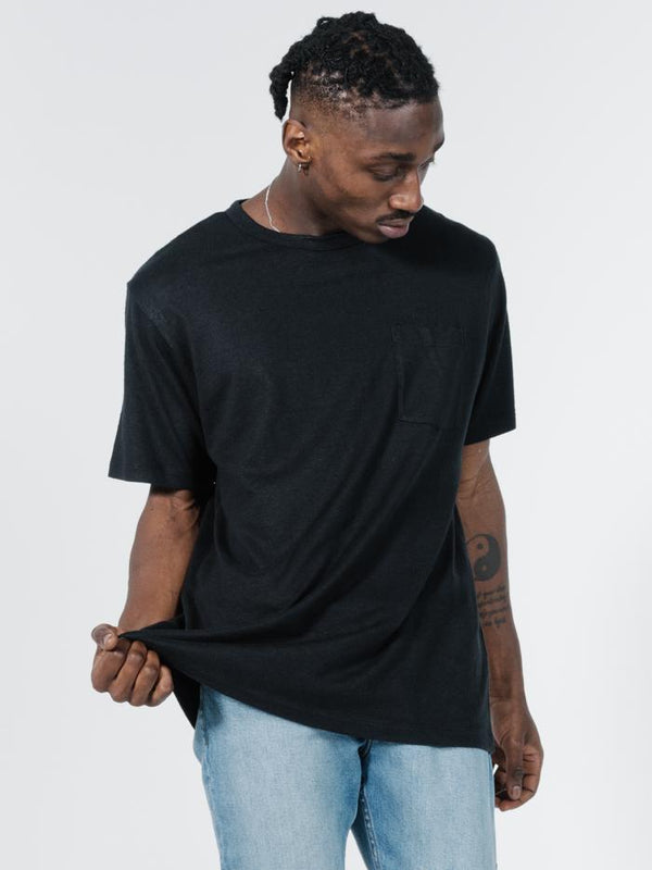 Endless Merch Fit Pocket Tee - Black