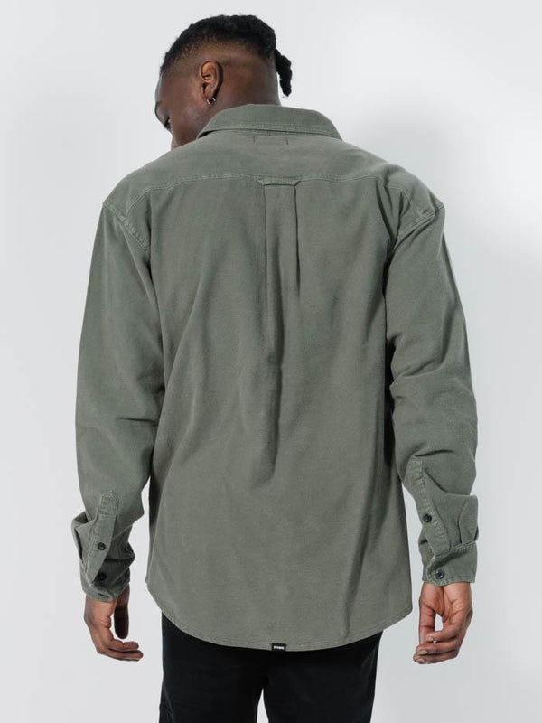 Legion Oversize Long Sleeve Shirt - Ivy Green