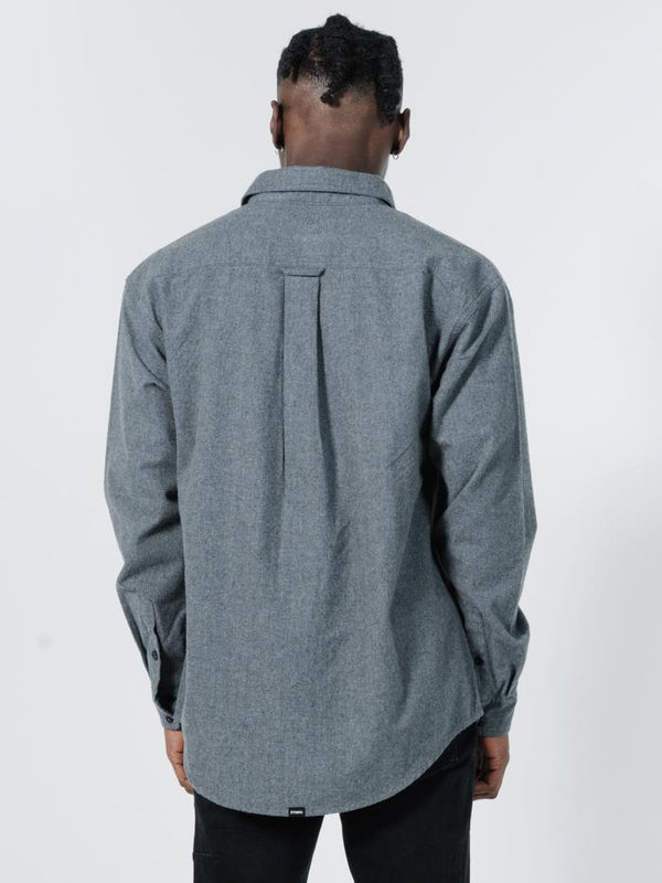 Legion Oversize Long Sleeve Shirt - Grey Marle