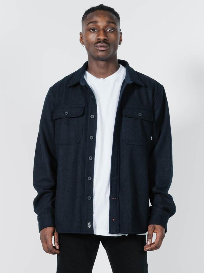 Paradise In Ruins Overshirt - Navy