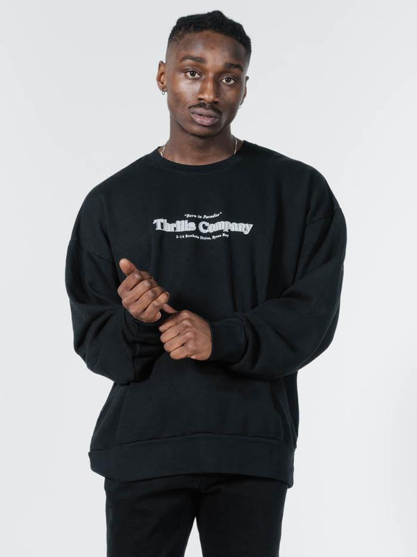 Company Pinline Slouch Fit Crew - Black