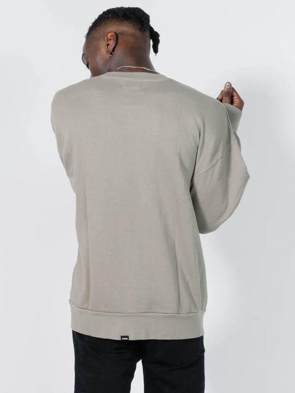 Company Pinline Slouch Fit Crew - Timber Wolf