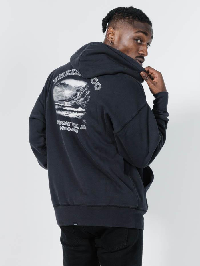 Electric Eagle Slouch Pull On Hood - Heritage Black