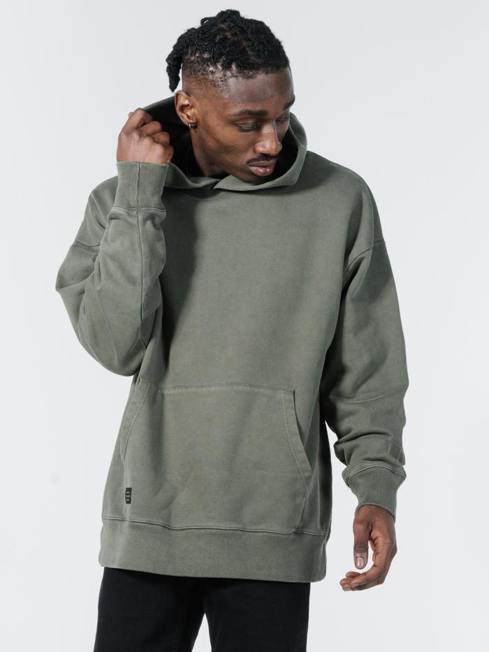 Legion Slouch Pull On Hood - Ivy Green