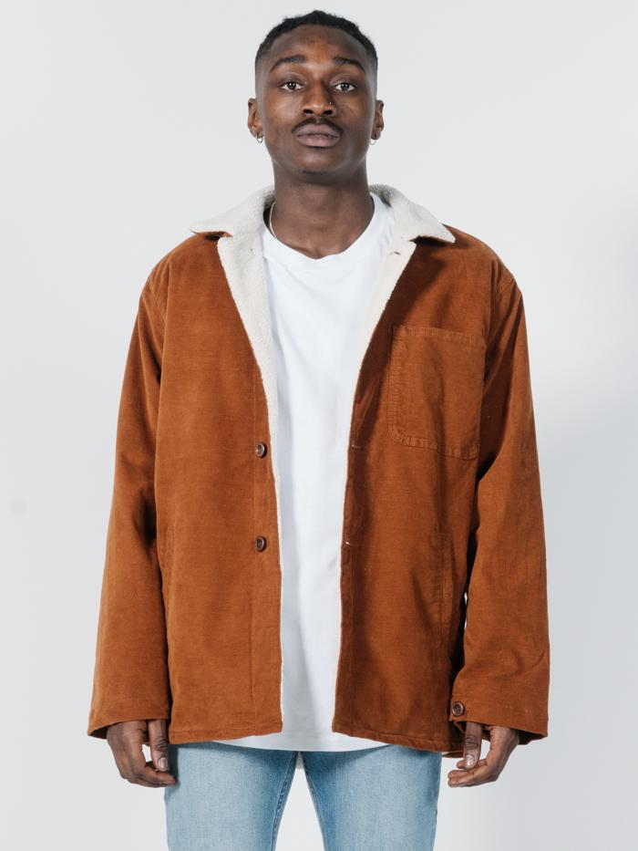 Rose Sherpa Jacket - Mustang Brown