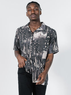 Smear Bowling Shirt - Black