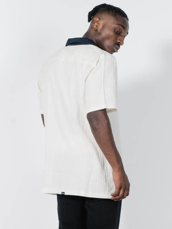 Paradise In Ruins Bowling Shirt - Dirty White