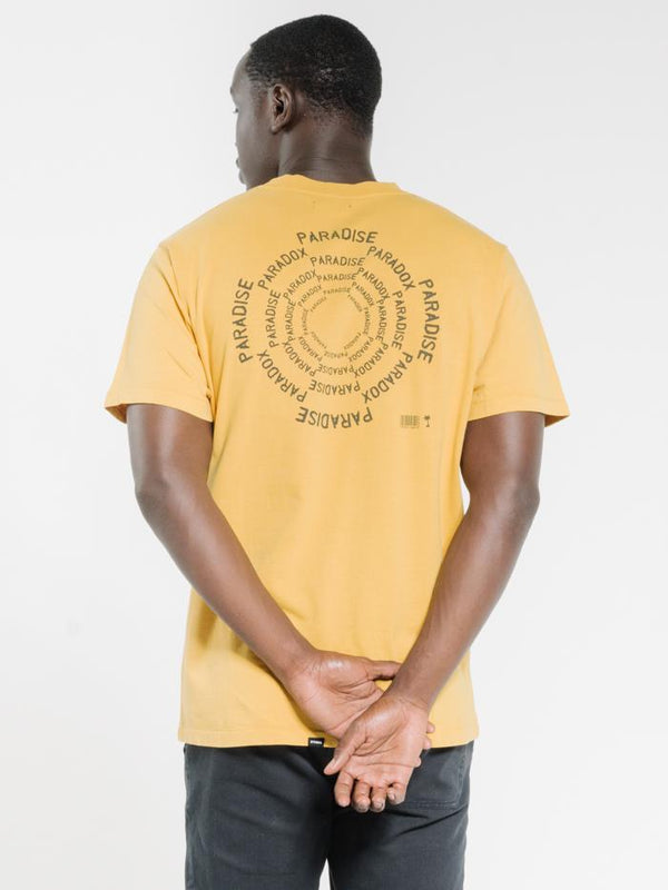 Paradise Paradox Merch Fit Tee - Mineral Yellow