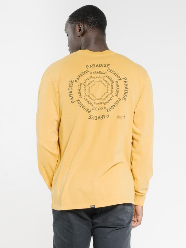 Paradise Paradox Merch Fit Long Sleeve Tee - Mineral Yellow