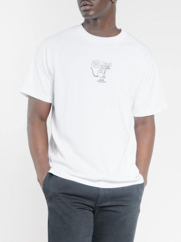 Stinkin Rat Merch Fit Tee - White