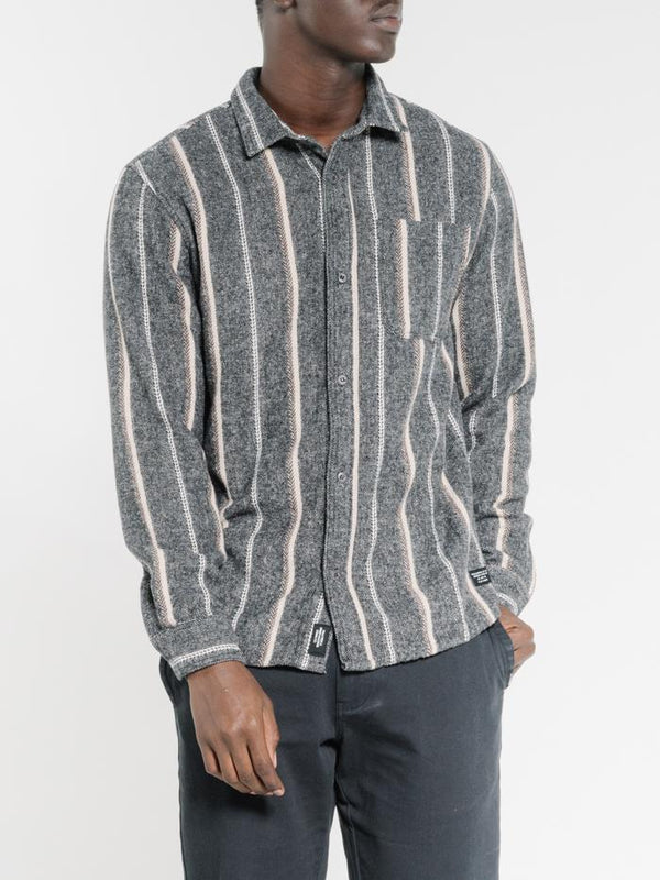 Work Shop Long Sleeve Flannel Shirt - Dark Grey