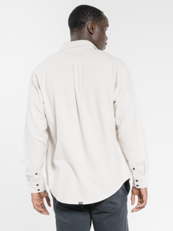 Minimal Thrills Oversized Long Sleeve Shirt - Cement