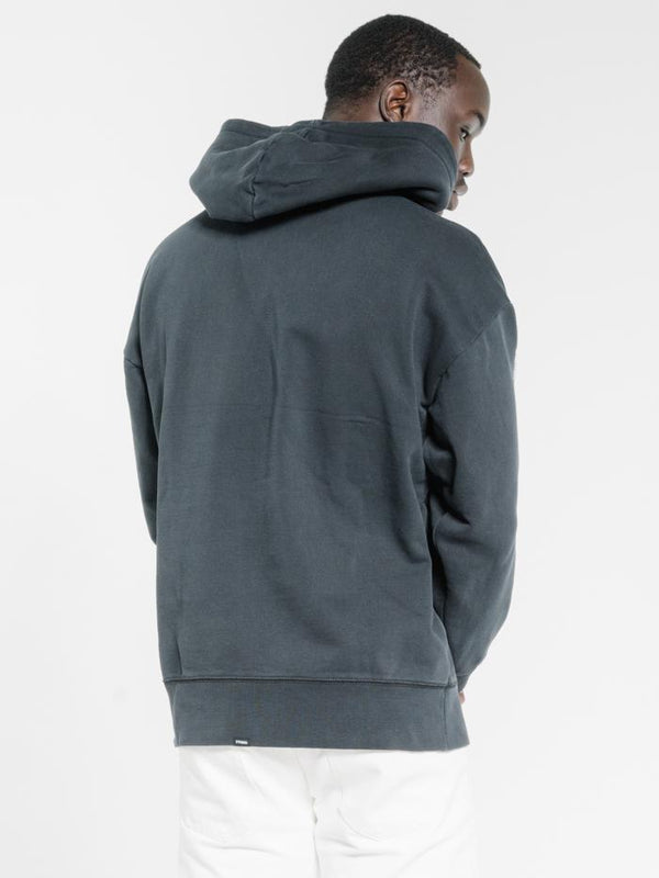 Hard Fast Loud Slouch Pull On Hood - Washed Black