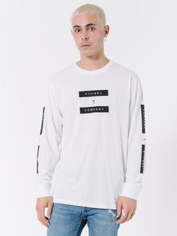 Segment Long Sleeve Tee - White