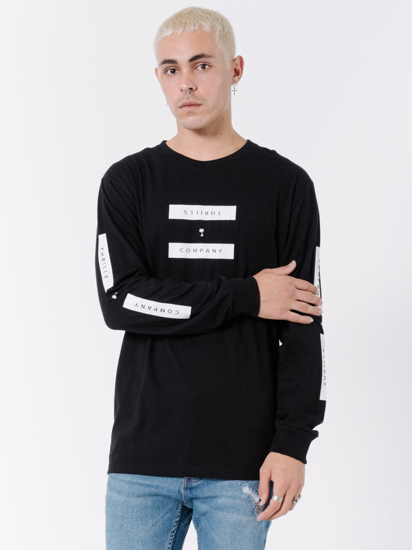 Segment Long Sleeve Tee - Black