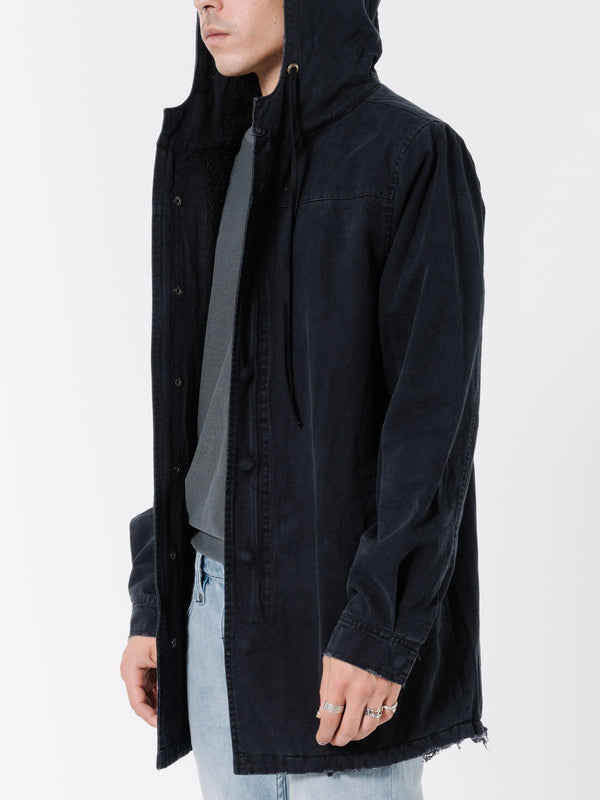 Sherpa Army Trench - Vintage Black