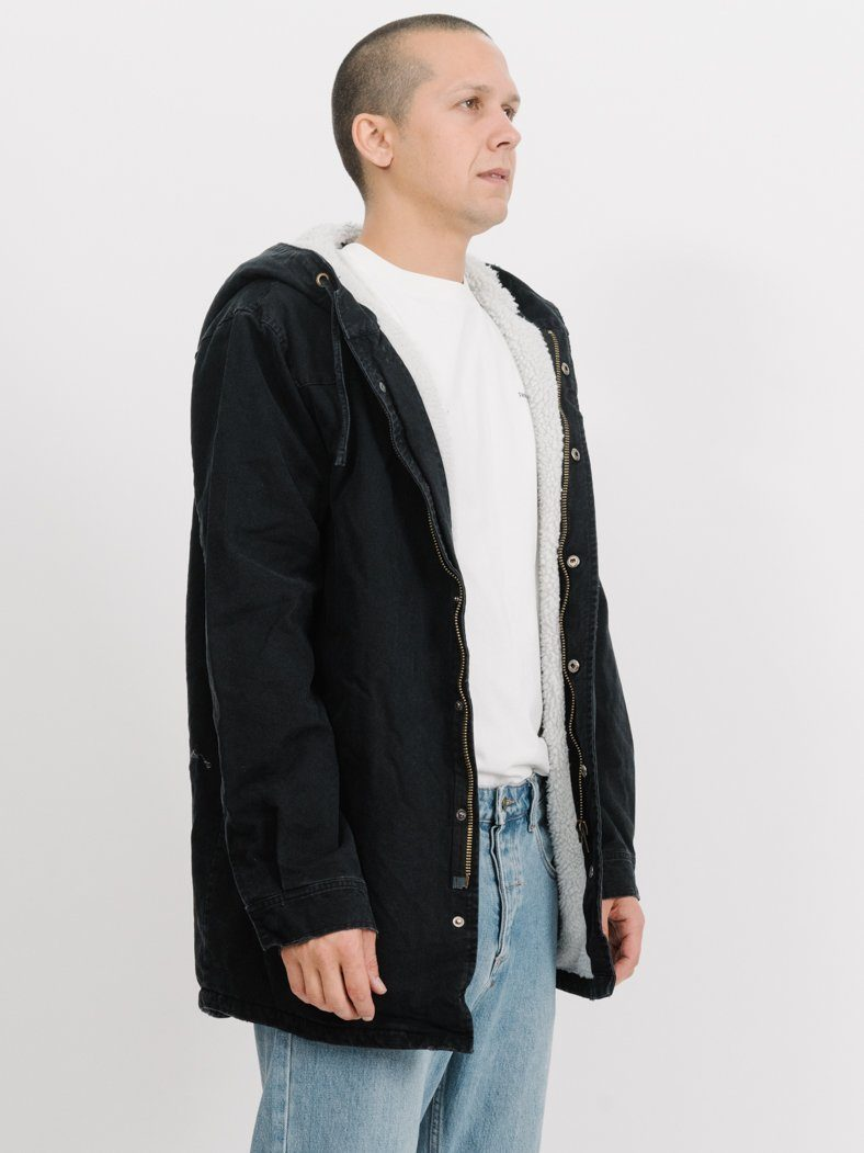 Army Sherpa Trench - Faded Black
