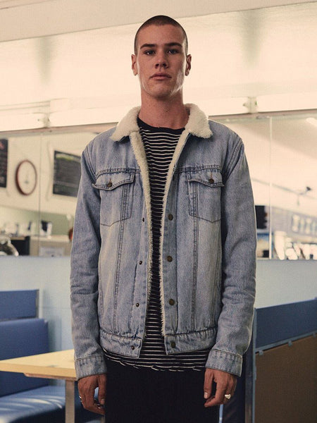 Wanderer Sherpa Jacket - Faded Blue