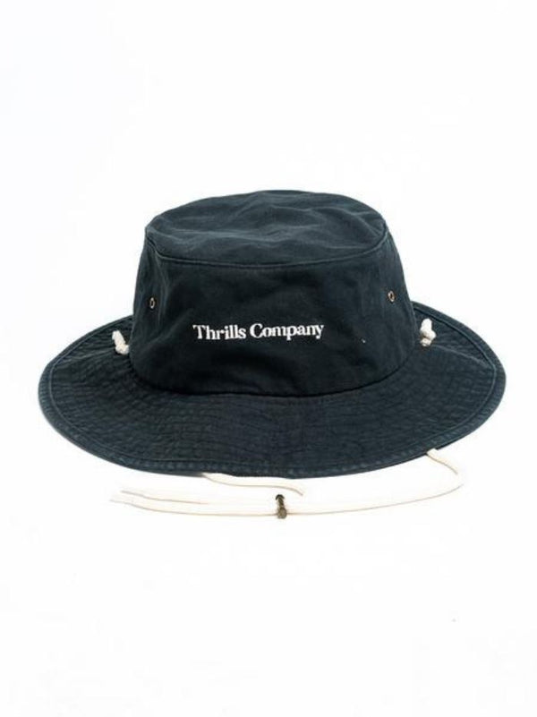 Service Wide Brim Bucket Hat - Vintage Black