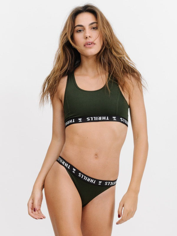 Classic Crop - Army Green