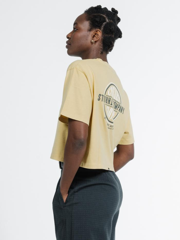 Cycles & Clothing Merch Crop Tee - Heritage Yellow