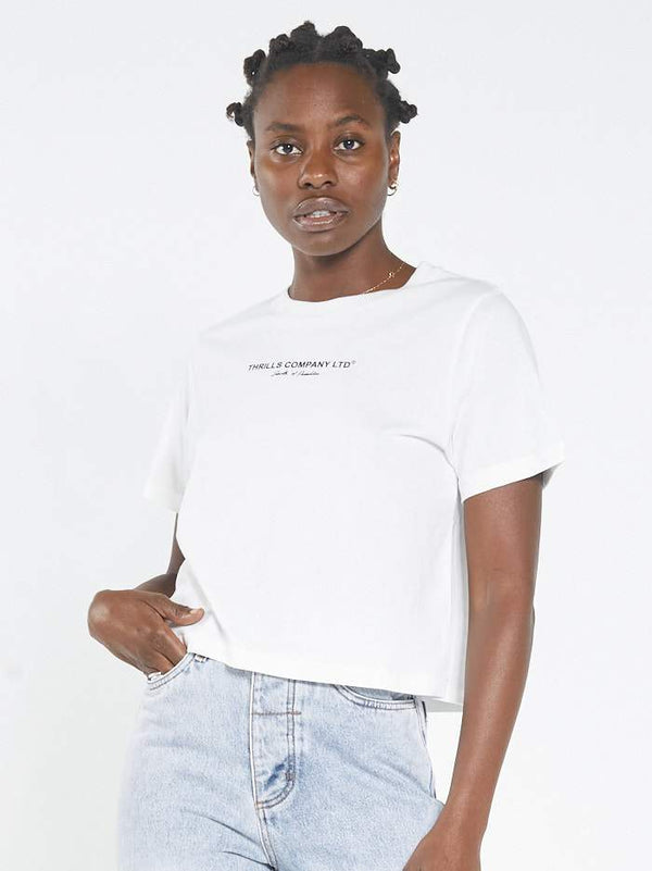 Cardinal Crop Tee - Dirty White