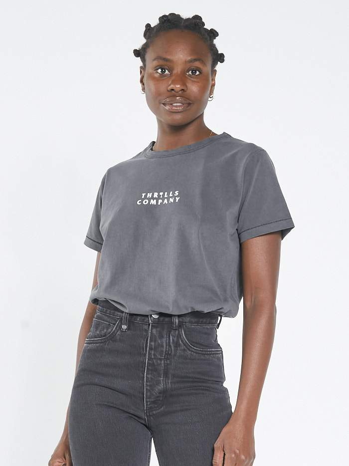 Palmed Thrills Relaxed Fit Tee - Merch Black