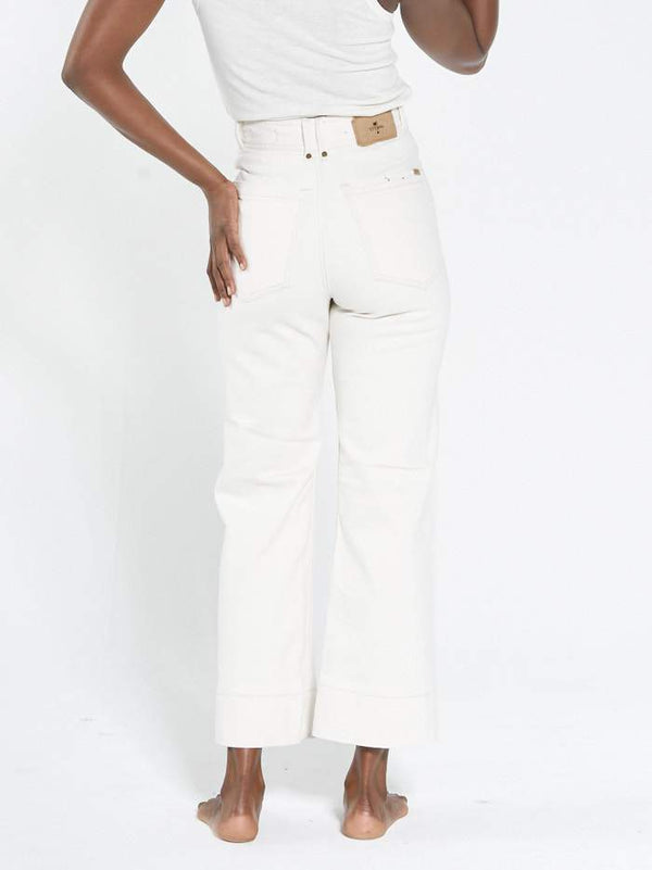 Belle Stretch Jean - Shady White