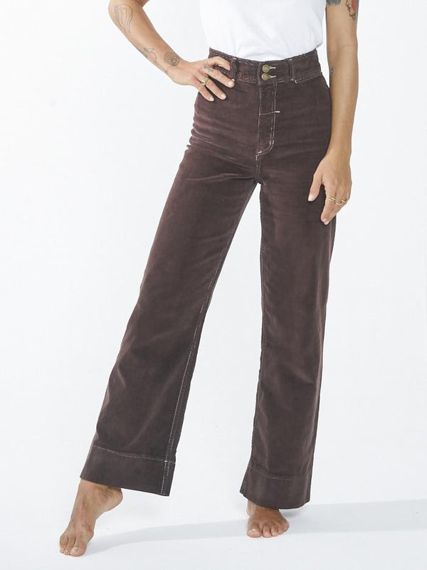 Belle Cord Pant - Postal Brown