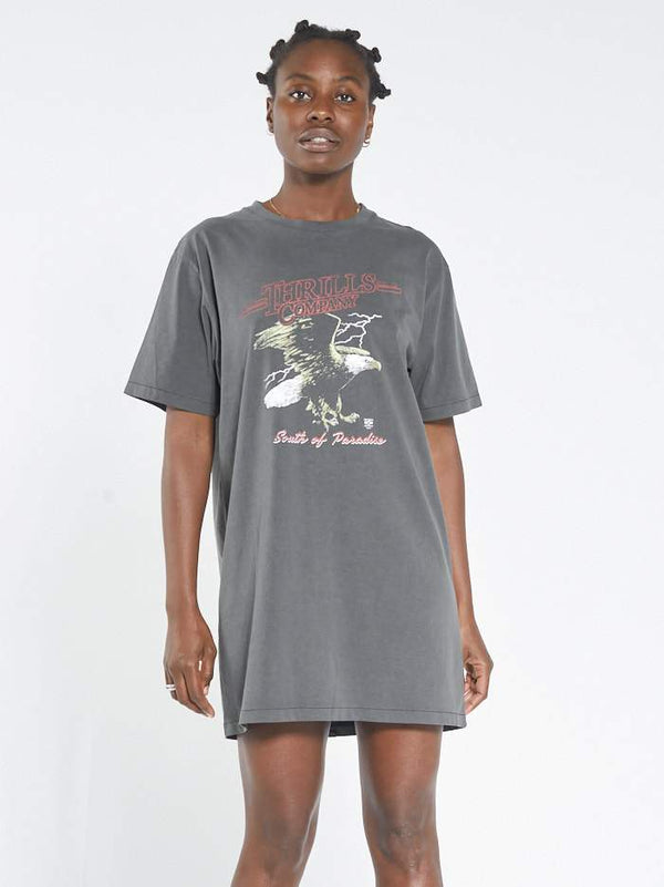 Speed Eagle Merch Tee Dress - Merch Black