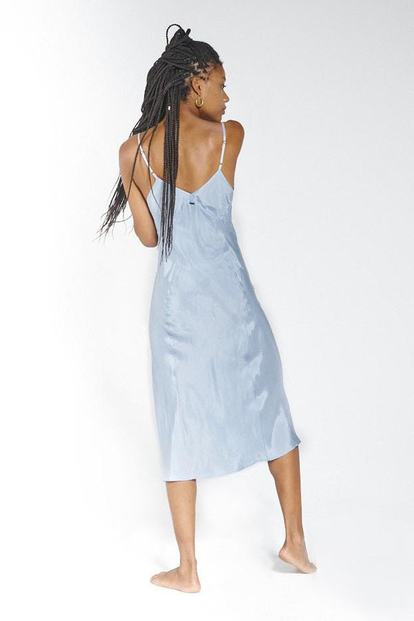 Chateau Midi Dress - Steel Blue