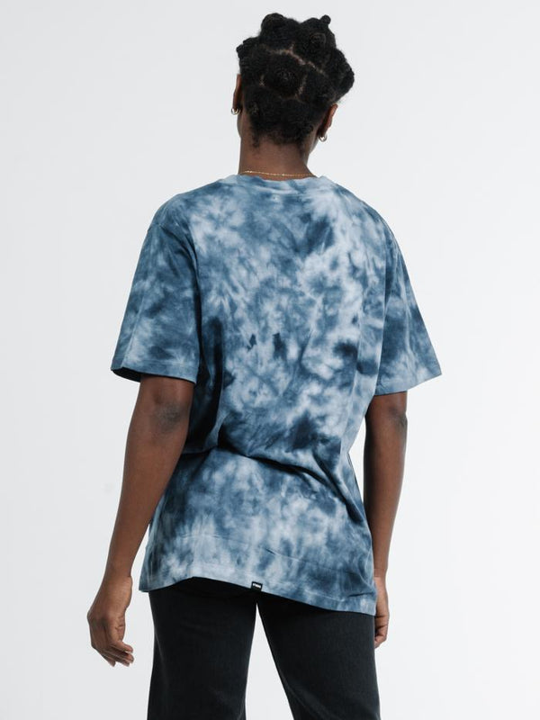 Free Ride Or Die Merch Fit Tee - Midnight Blue Tie Dye