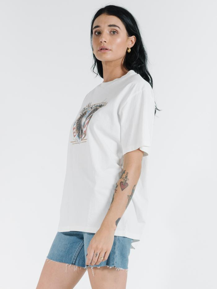 Liberty Eagle Merch Tee - Dirty White