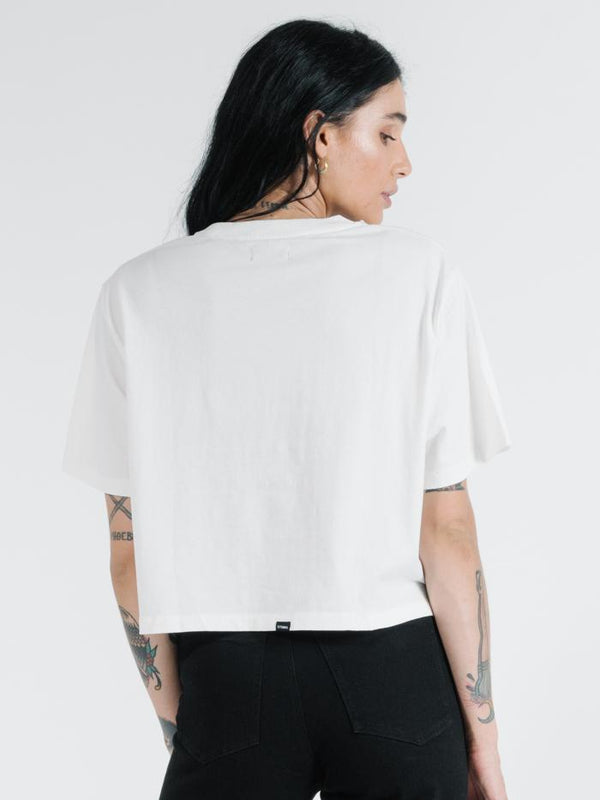 Charger Merch Crop Tee - Dirty White
