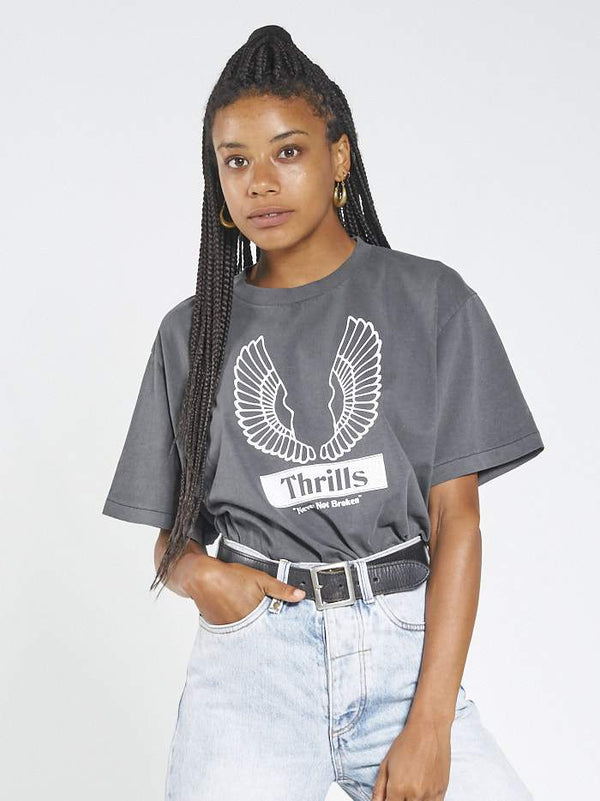 Wings Badge Merch Tee - Merch Black