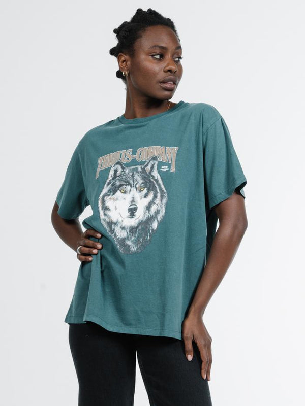 Wolf Merch Tee - Washed Teal
