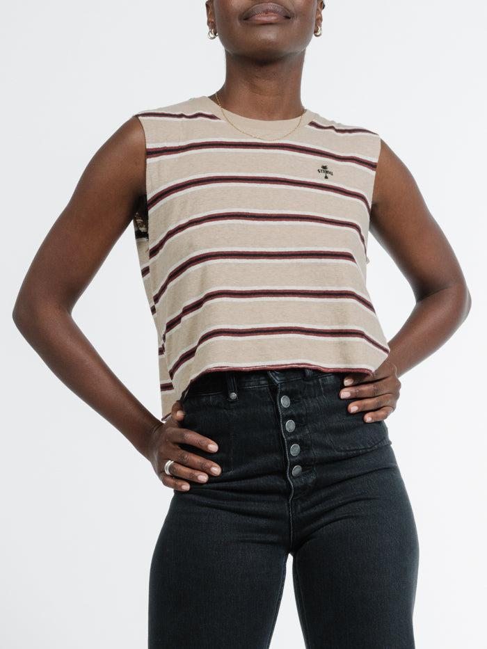 Zeppelin Crop Muscle - Stripe