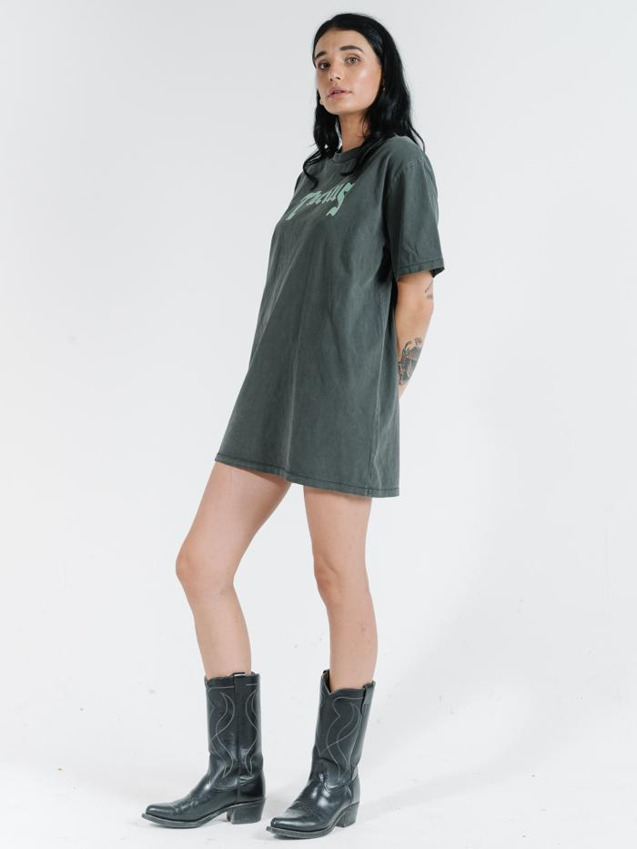 Thrills Stamp Merch Tee Dress - Merch Black