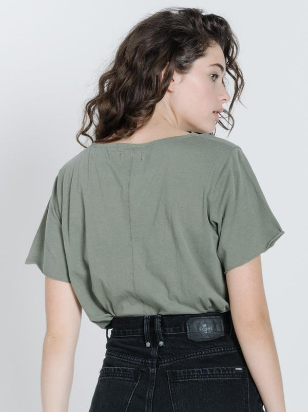 Minimal Thrills Loose Fit Tee - Army Green