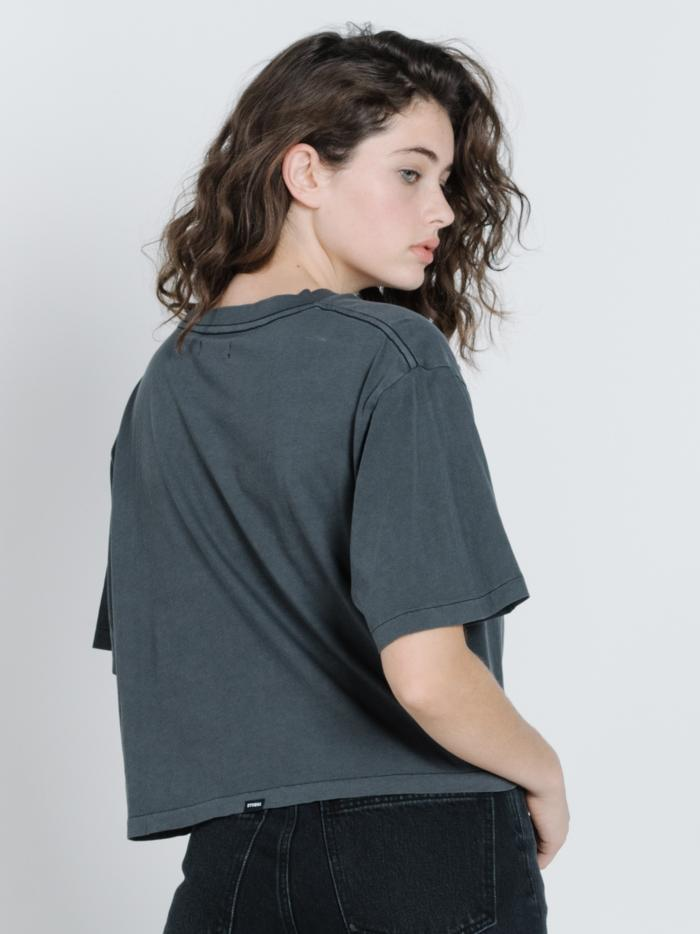 Easy Riding Crop Tee - Merch Black