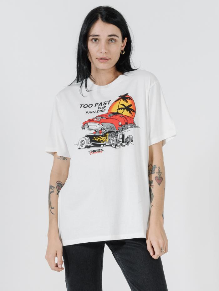 Too Fast Merch Tee - Dirty White