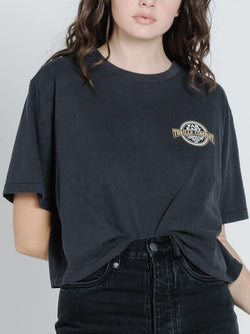 Byron Born Merch Crop Tee - Vintage Black