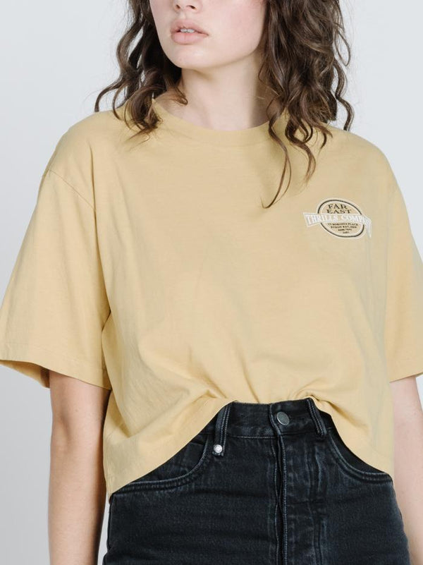 Byron Born Merch Crop Tee - Heritage Yellow