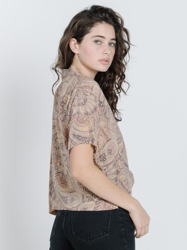 Horizon Paisley Shirt - Tan