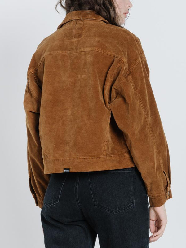 Sueded Jessie Jacket - Mustang Brown