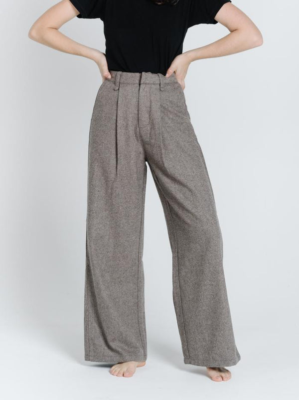 Artist Wool Pant - Brown
