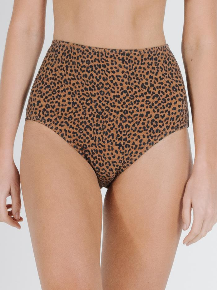 Panthera High Waist Bikini Bottom - Mustang Brown