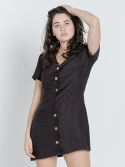Fraya Dress - Postal Brown