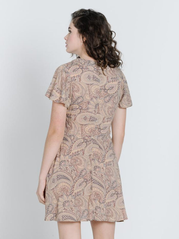 Paisley Dress - Tan