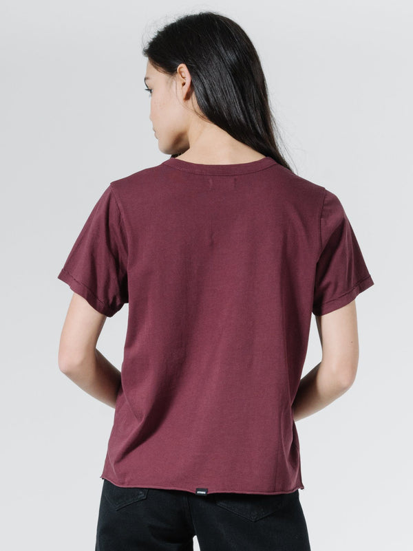 Minimal Thrills Relax Fit Tee - Blood Red
